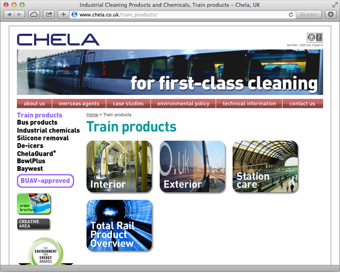 Chela - Products page