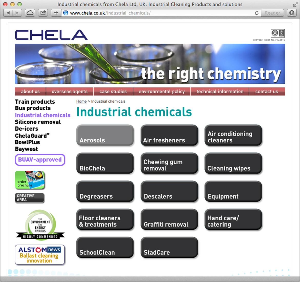 Chela - Chemicals page