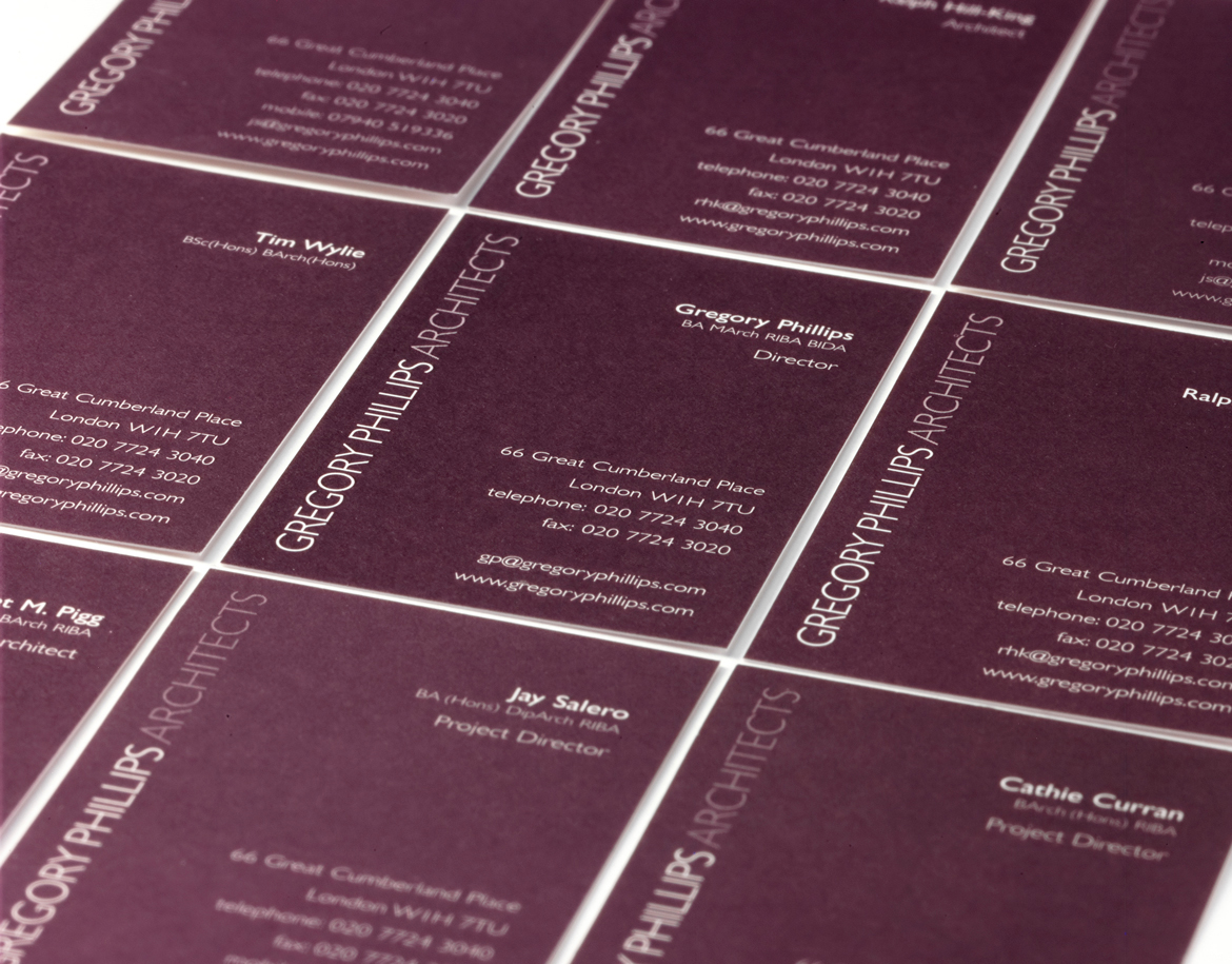 Gregory Phillips Architects Business Cards
